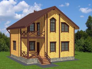 Проекты домов из профилированного бруса